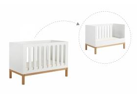 Lit bébé évolutif Indigo Blanc - 70 x 140 cm