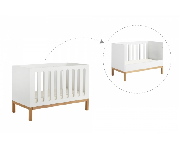 Baby Bed 70 X 140 Cm Indigo White