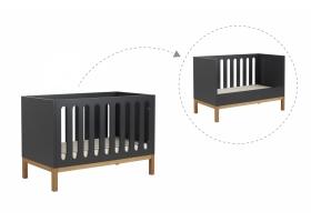 Lit bébé évolutif Indigo Gris - 70 x 140 cm