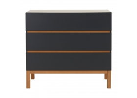 Dresser with changing table in moonshadow - Indigo by Quax