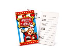 Cirque ~Set de 8 cartes d'invitation~
