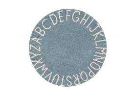 Tapis rond ABC - Bleu gris