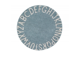 Washable rug Round ABC Vintage Blue - Natural