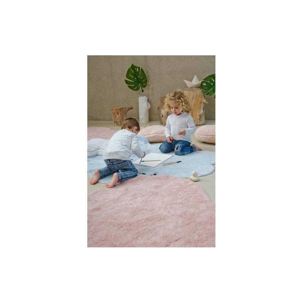 Washable rug Puffy Love nude by Lorena Canals