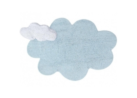 Tapis Puffy Nuage bleu avec coussin