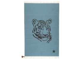 Gipsy cotton rug - Tiger Blue by Varanassi