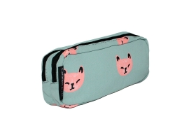 Trousse double Chats roses