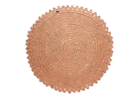Gipsy cotton rug Pink by Varanassi