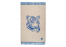 Pop cotton rug - Tiger Blue by Varanassi