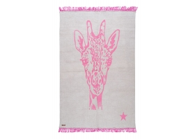 Pop cotton rug - Giraffe Rose by Varanassi