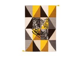 Tapis Varanassi Circus en laine - Tigre marron