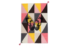 Circus Wool rug - Arlequiin Butterfly Multicolored by Varanassi