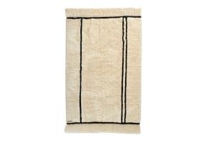 Tapis Varanassi Berbère en coton - Tribu beige