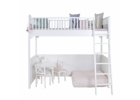 Seaside Loft Bed 90 x 200 - White