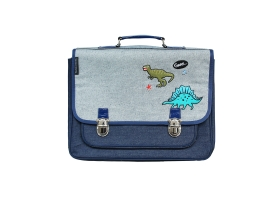 School Bag ~Blue jean Dinosaurs Satchel ~