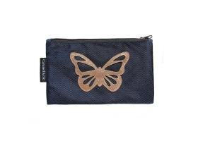 Pencil Case ~Pencil Case with Butterfly blue and golden~