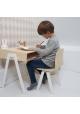 Ensemble Bureau Enfant et Chaise IN2WOOD - Blanc