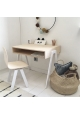 Kids desk and chair small IN2WOOD - White