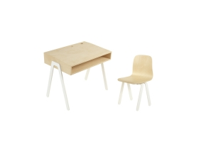Ensemble Bureau Enfant et Chaise IN2WOOD - Blanc