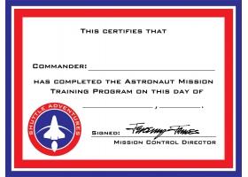 Espace ~Set de 12 diplômes d'astronaute~