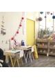Ensemble Bureau Enfant et Chaise IN2WOOD - Rose poudré