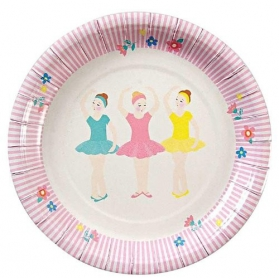 Ballerina ~Pack of 12 plates~