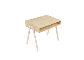 Kids desk small IN2WOOD - Powder pink
