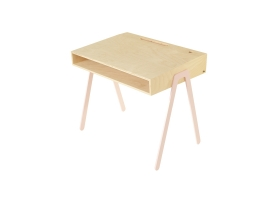 Kids desk large IN2WOOD - Powder pink