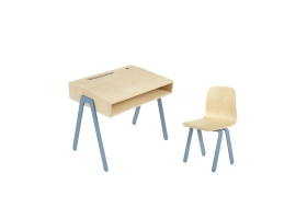 Ensemble Bureau Enfant et Chaise IN2WOOD - Bleu
