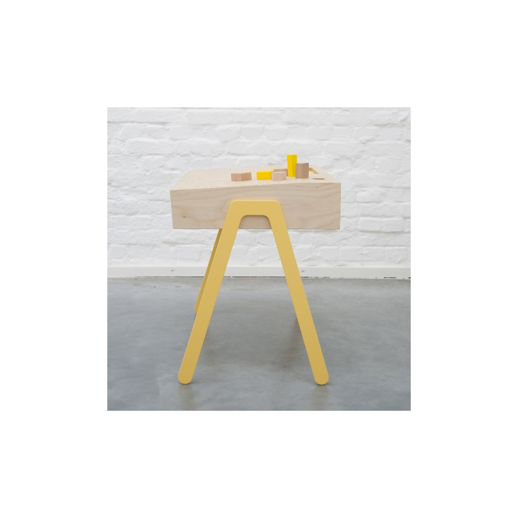 ... Kids desk and chair large IN2WOOD - Yellow ...  sc 1 st  Reves et Merveilles & Kids desk and chair large by IN2WOOD yellow