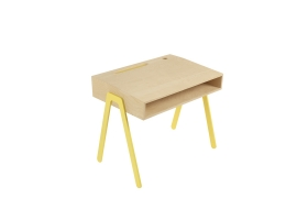 Kids desk small IN2WOOD - Yellow