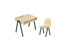 Kids desk and chair small IN2WOOD - Black