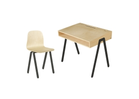 Ensemble Bureau Junior et Chaise IN2WOOD - Noir