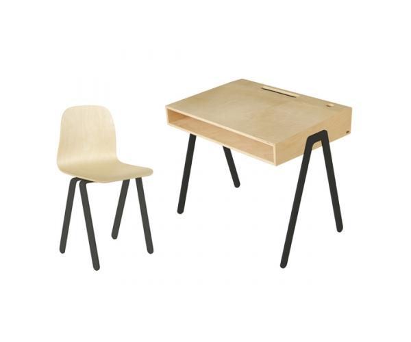 Bureau junior in wood et chaise enfant noir