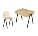 Ensemble Bureau Junior et Chaise IN2WOOD - Noir