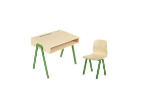 Kids desk and chair small IN2WOOD - Green
