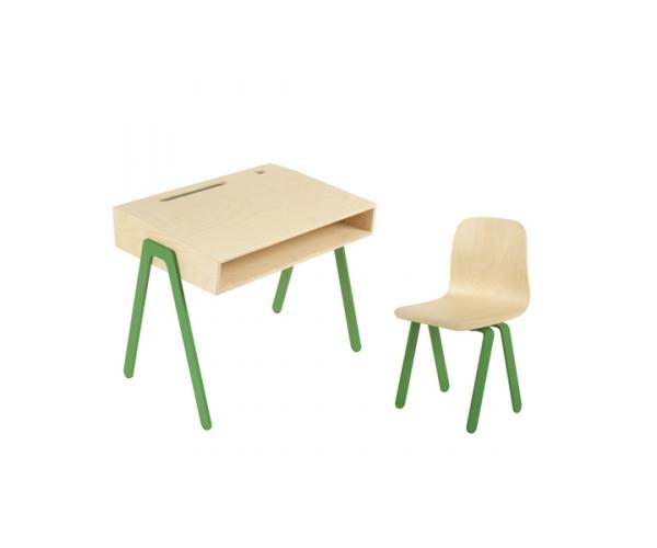 Ensemble Bureau Enfant et Chaise IN2WOOD - Vert foncé