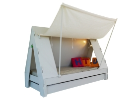 Tente bed 90 x 190 cm by MATHY BY BOLS - White