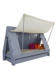 Tente bed 90 x 190 cm by MATHY BY BOLS - Charcoal Grey