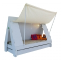Tente bed 90 x 190 cm by MATHY BY BOLS - Light blue
