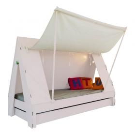 Tente bed 90 x 190 cm by MATHY BY BOLS - Powder pink