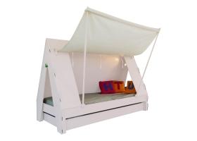 Lit Tente Mathy By Bols 90x190 cm avec lit tiroir - Rose poudré