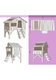 Cabine bed 90 x 190 cm by MATHY BY BOLS - Powder pink