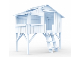 Lit Cabane Mathy By Bols 90x190 cm - Bleu poudré