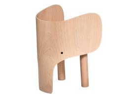 Chaise Eléphant en bois de hêtre par Marc Venot