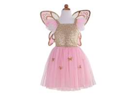 Butterfly Costume with Golden Wings Gold