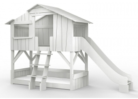 Treehouse Bunk bed and slide 90 x 190 cm by MATHY BY BOLS - Grey