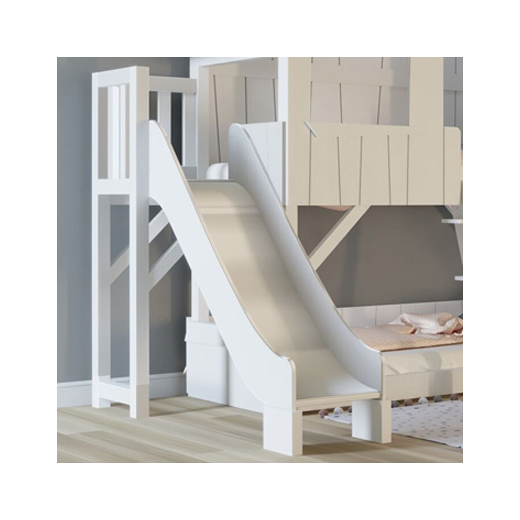 Treehouse Bunk Bed With Slide And Plateform By Mathy By Bols In White