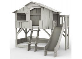 Treehouse Bunk bed and slide with plateform 90 x 190 cm by MATHY BY BOLS - Raw