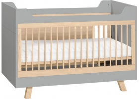 Cot Bed 4 YOU Grey 70 x 140 cm